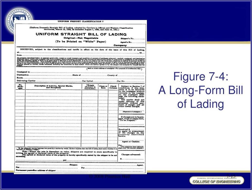 Long Form Bill Of Lading Adalah