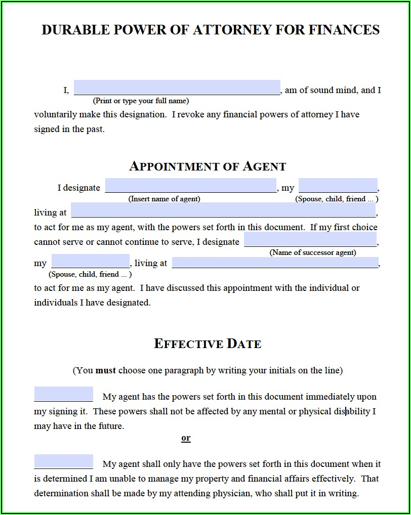 Michigan Business Power Of Attorney Form