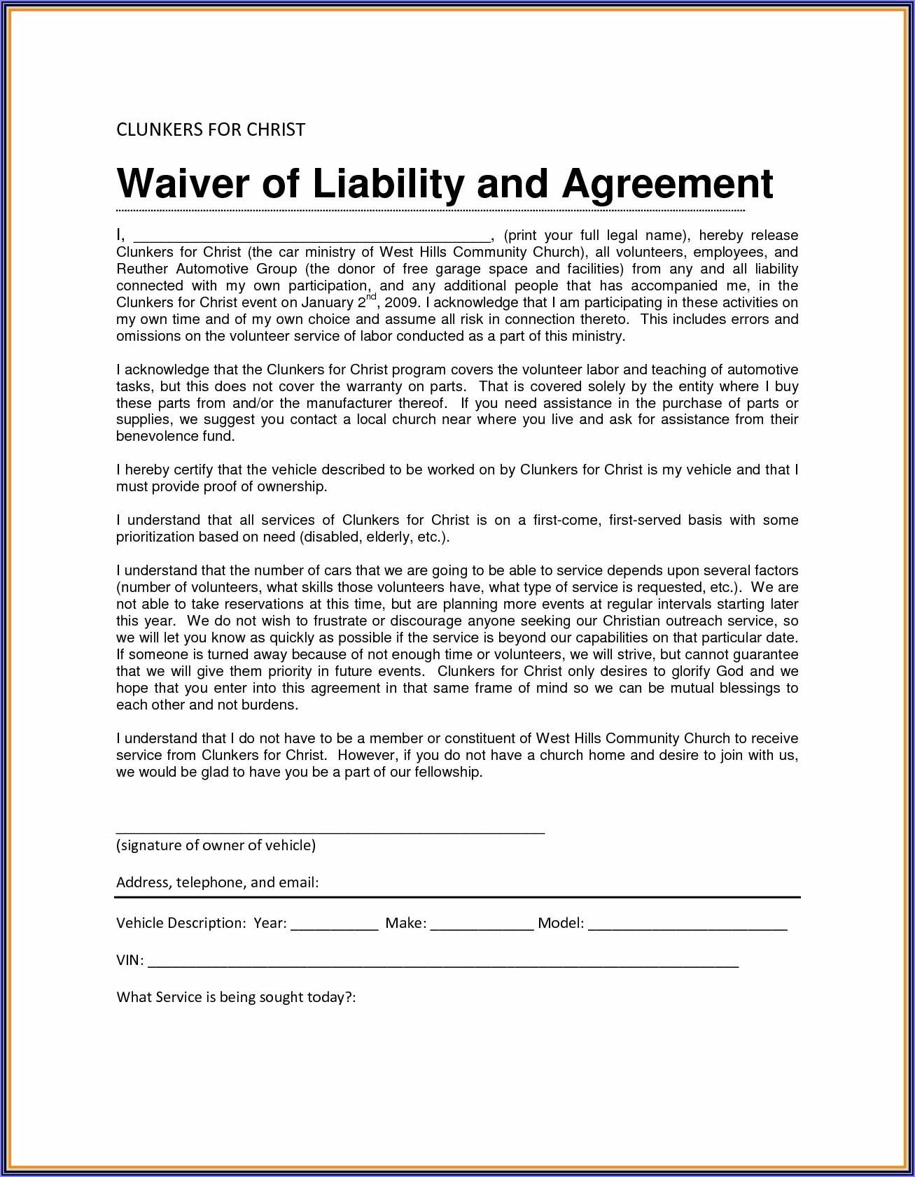Molina Medicare Waiver Of Liability Form