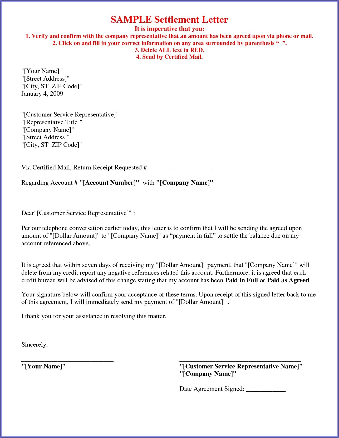 Mortgage Payoff Letter Format