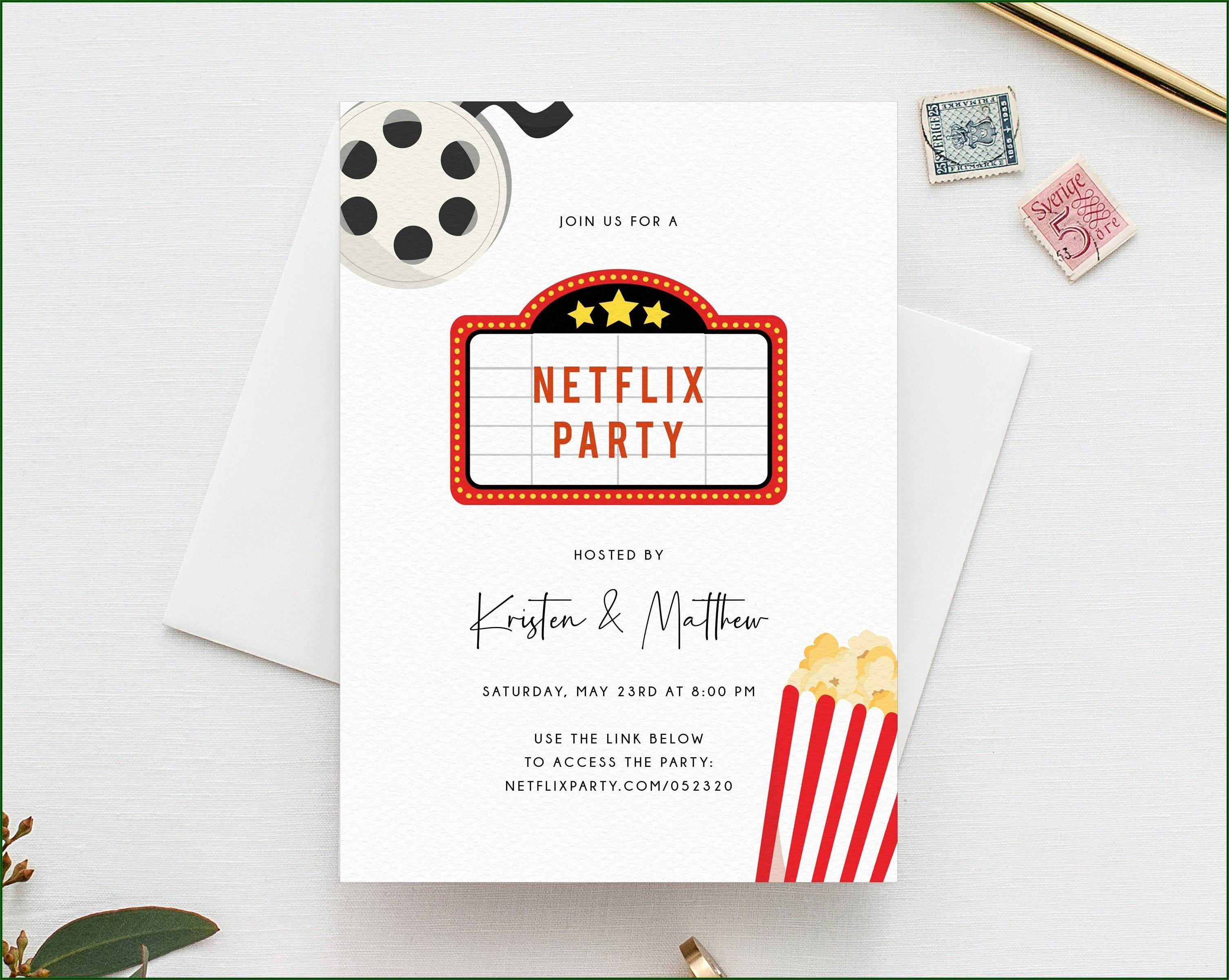 Movie Birthday Party Invitation Template