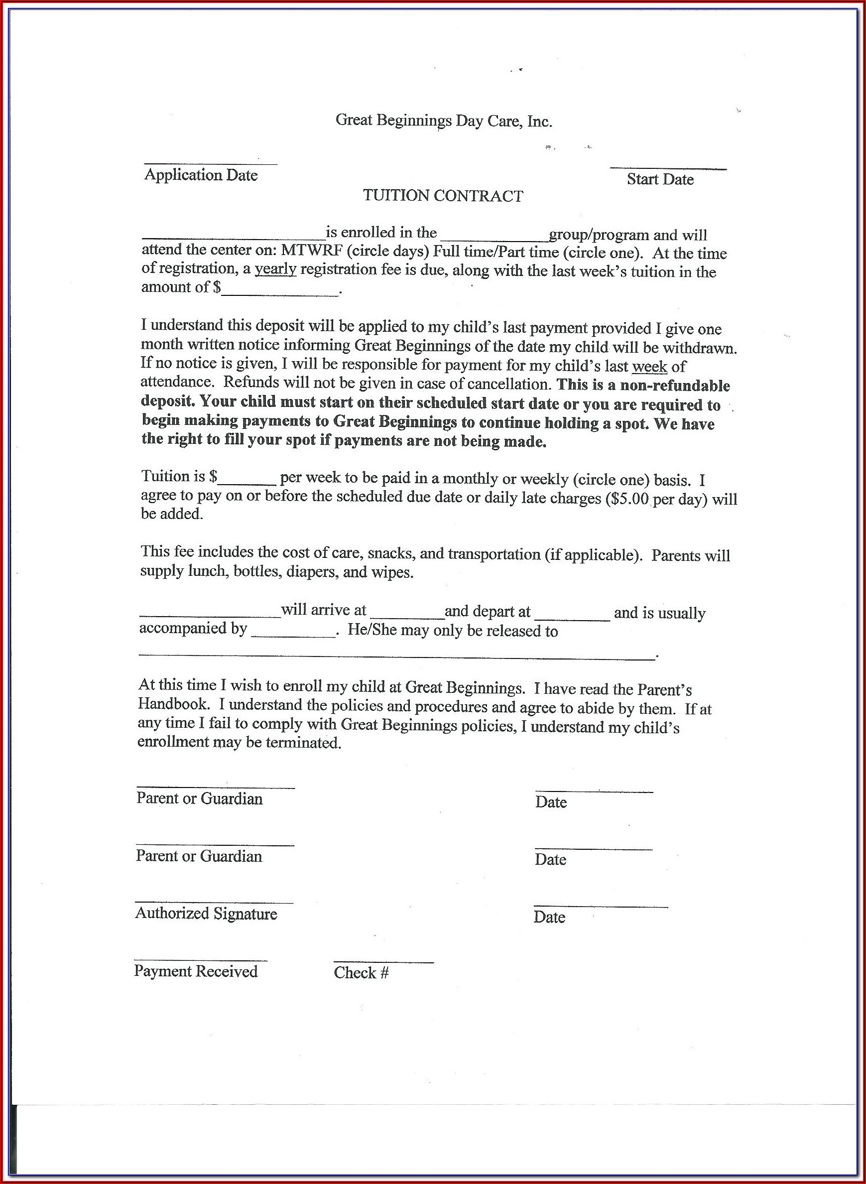 Ncnd Agreement Format