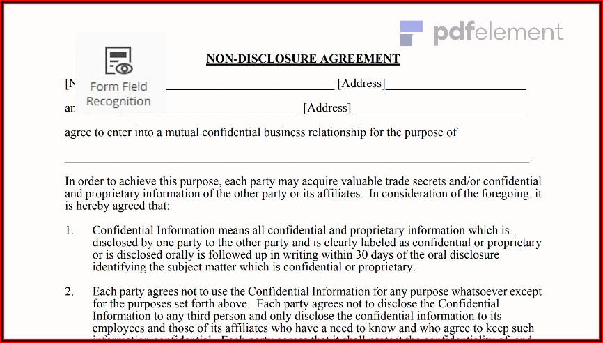 Ncnd Agreement Sample Pdf