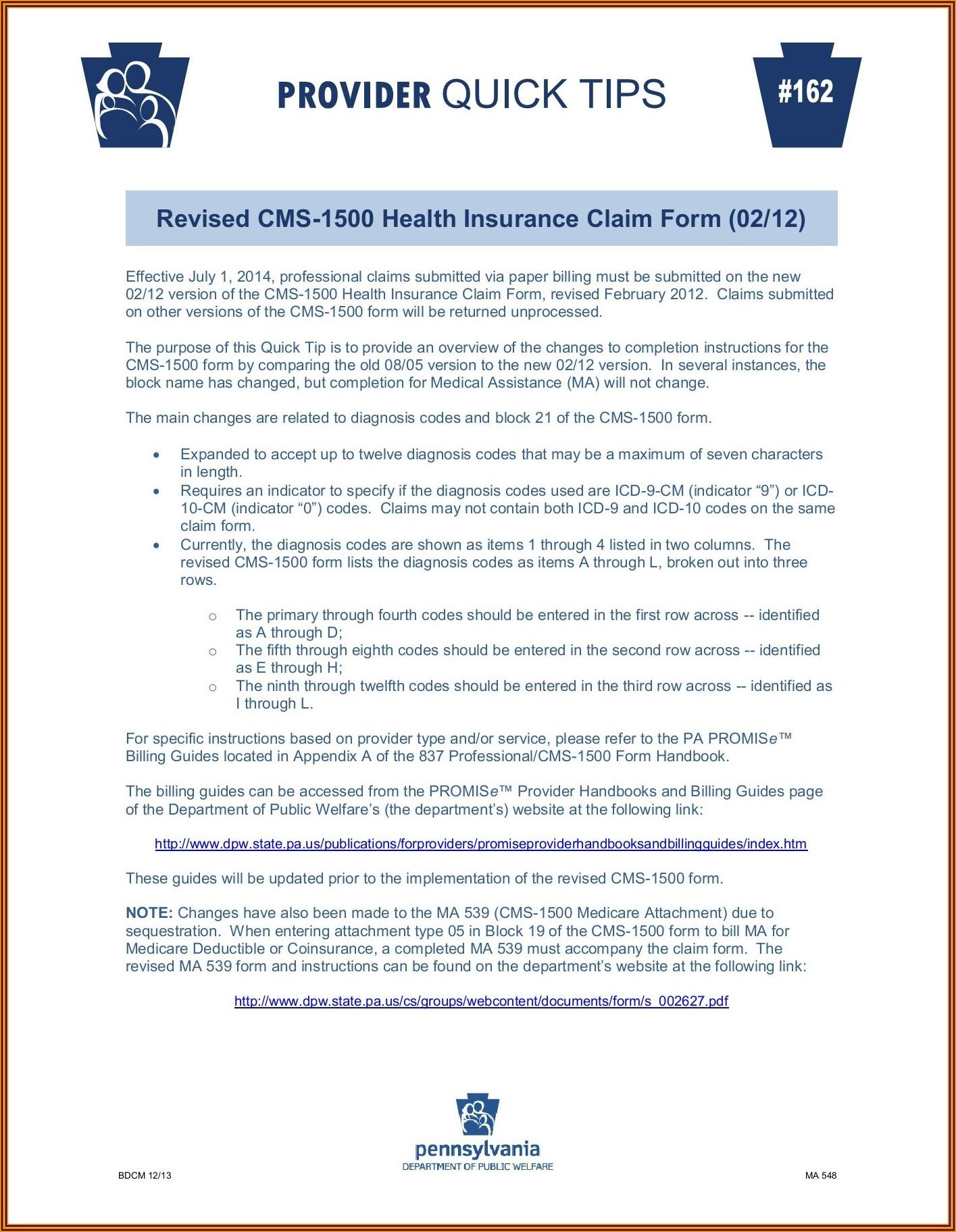 Obamacare Health Insurance Application Form