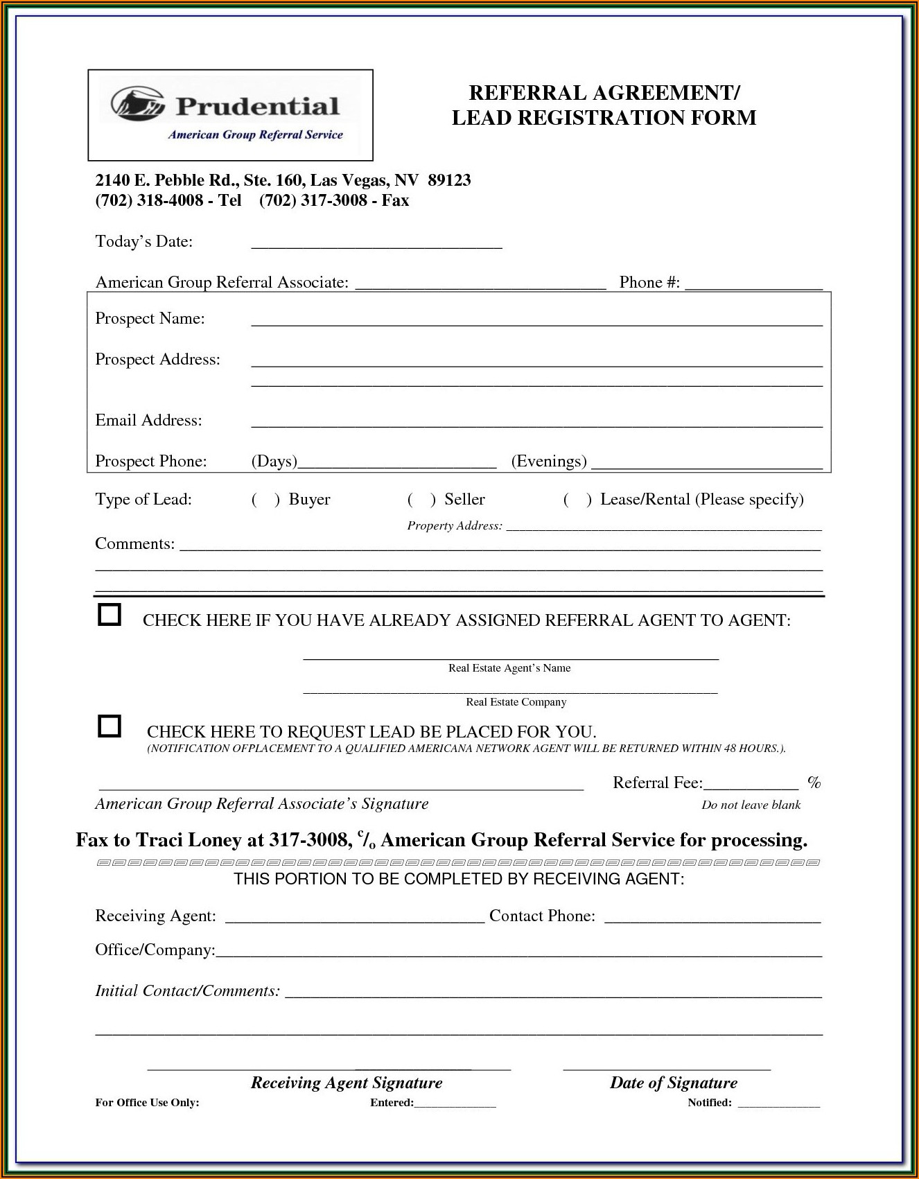 Orthodontic Extraction Referral Form