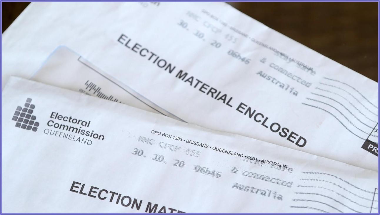 Postal Vote Application Form Online Ecq