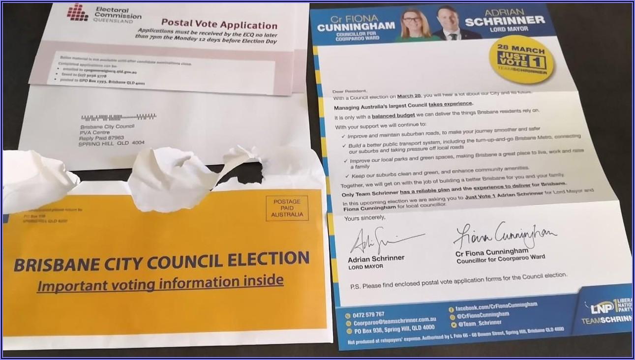 Postal Vote Application Form Online