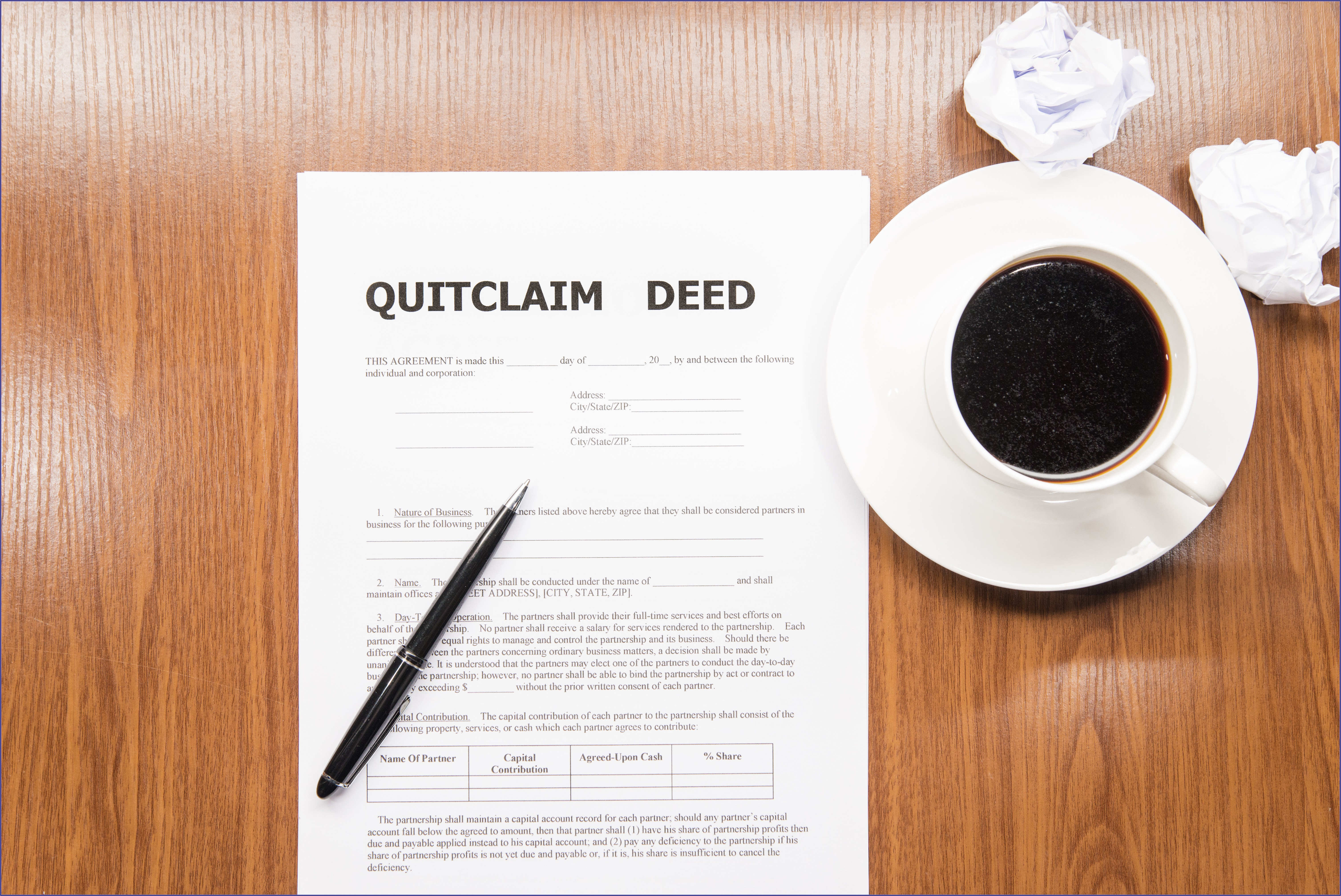 Quit Claim Deed Form Montgomery County Maryland