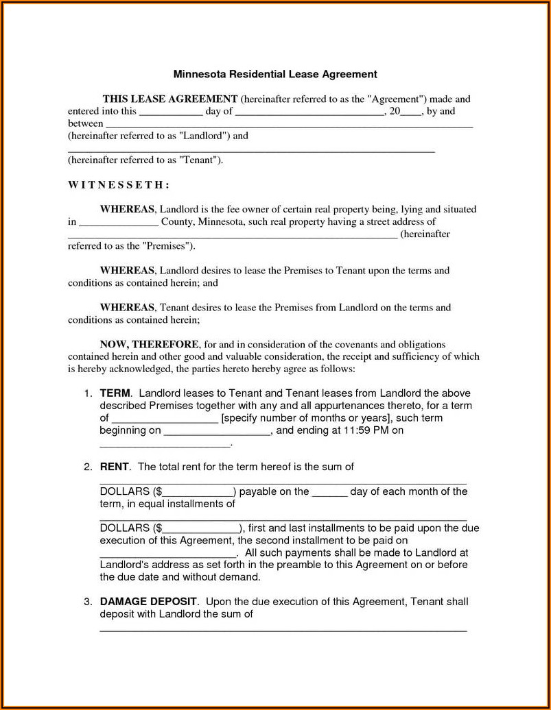 Rental House Lease Forms