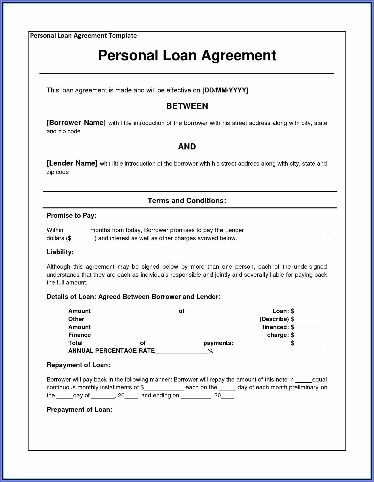 Shareholders Agreement Short Form