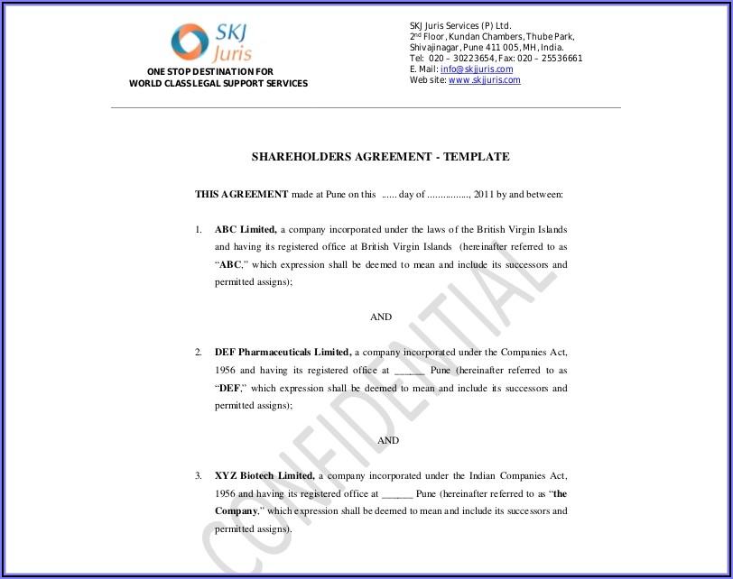 Shareholders Agreement Word Format