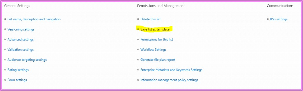 Sharepoint Online List Template Gallery Missing