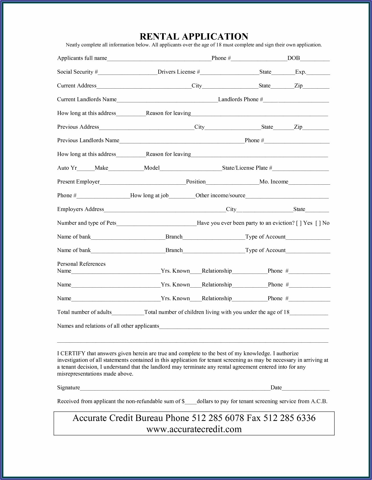Simple Lease Agreement Form Pdf
