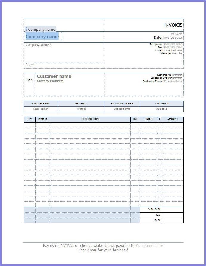 Simple Sales Receipt Template Free