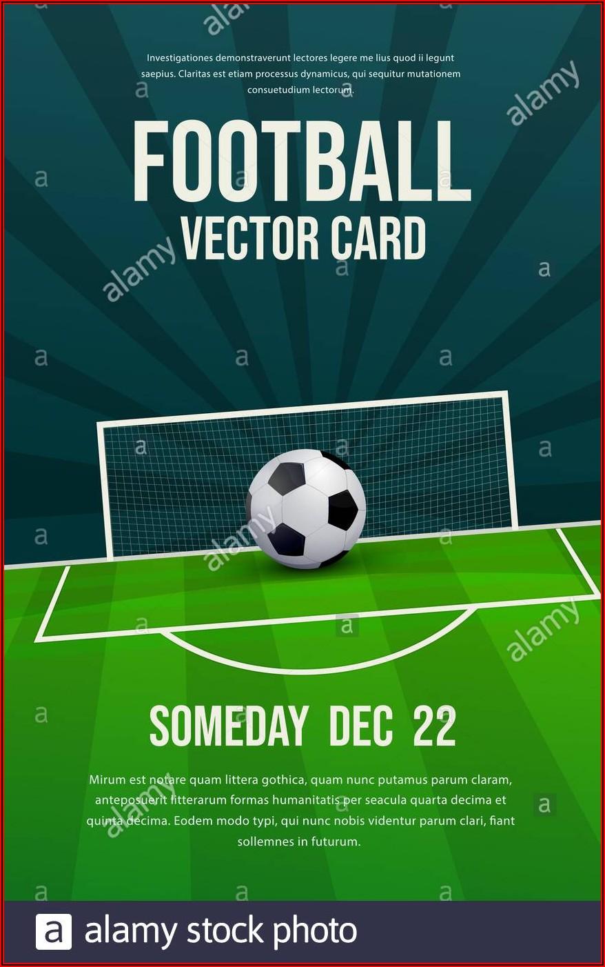 Soccer Ball Invitation Template