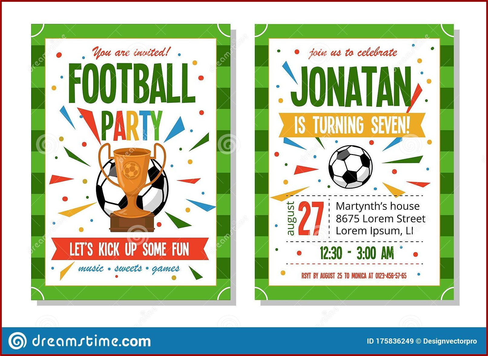 Soccer Theme Invitation Template Free