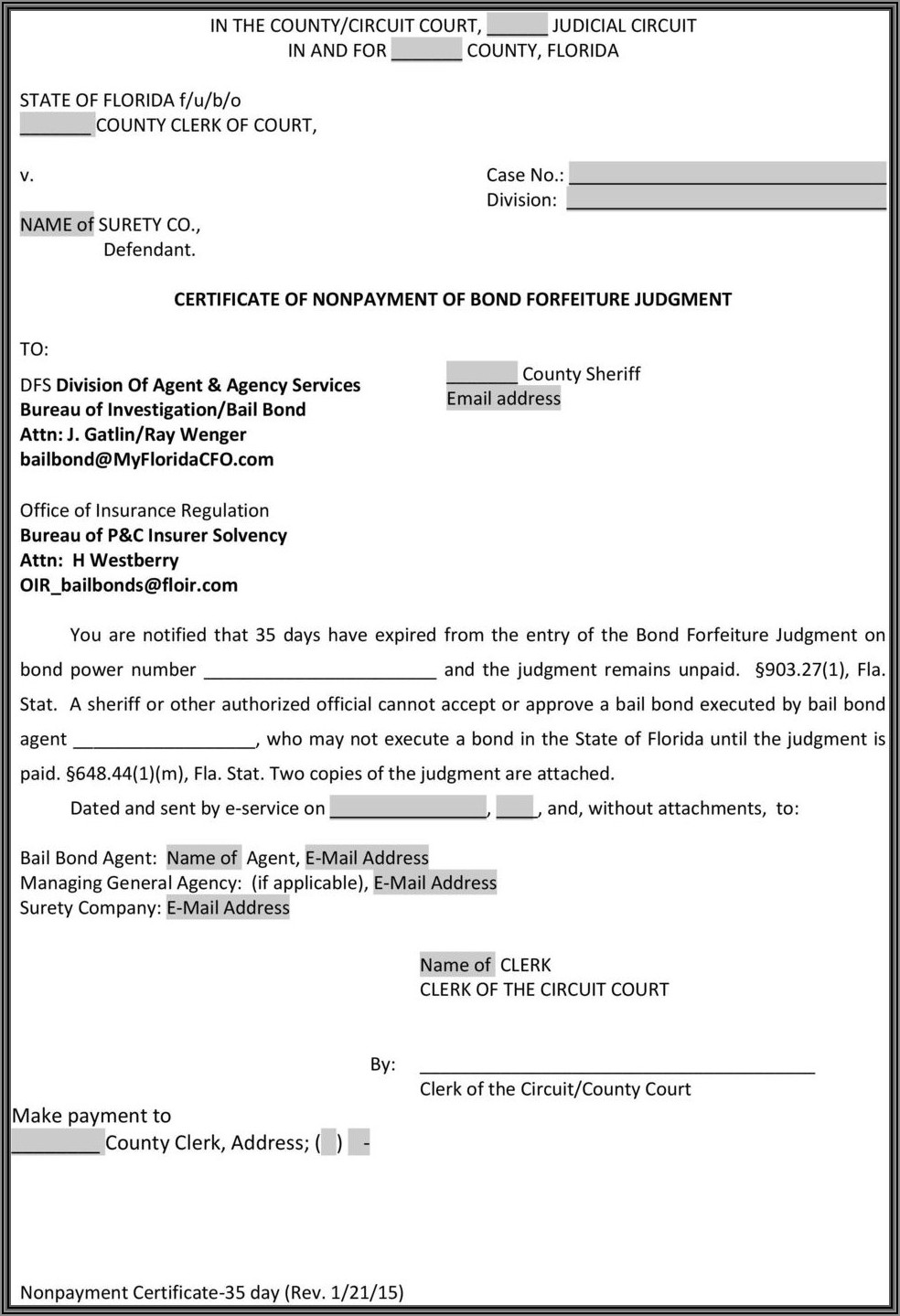 Surety Bond Forms Library
