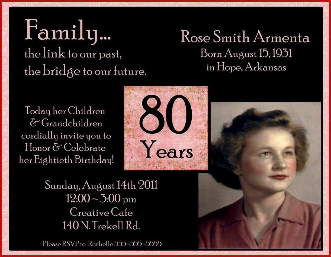 Surprise 80th Birthday Invitation Template