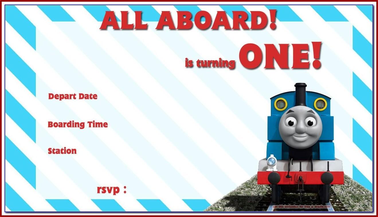 Thomas The Tank Engine Invitation Templates Free