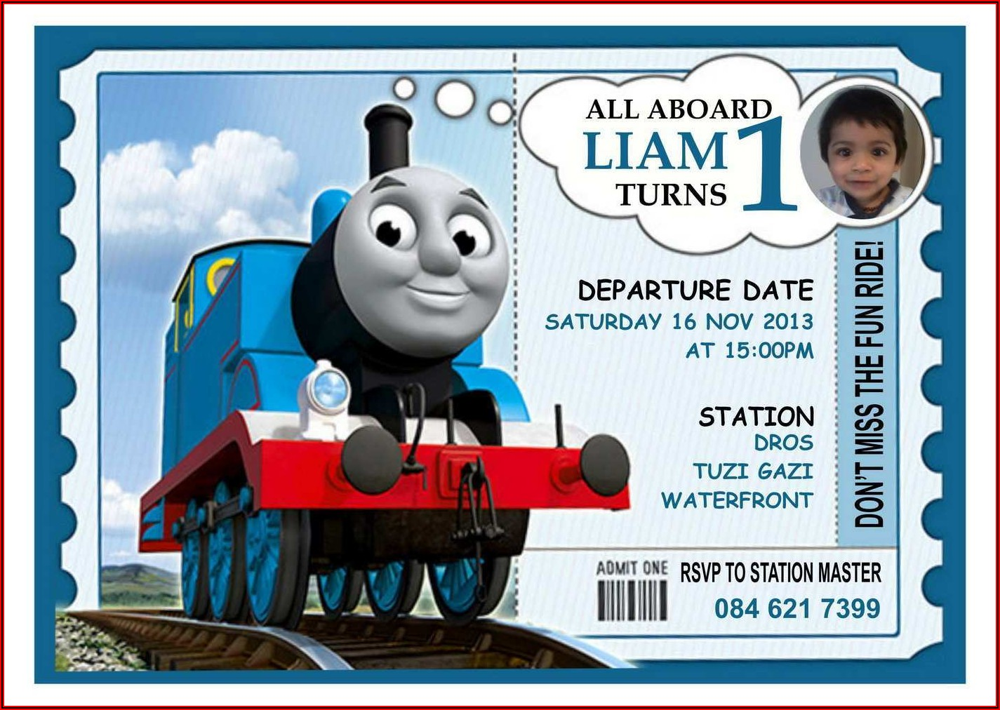 Thomas The Train Invitation Template