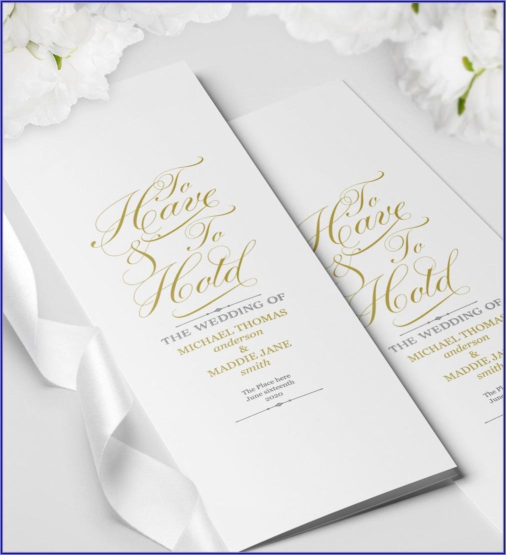 Traditional Wedding Ceremony Program Template