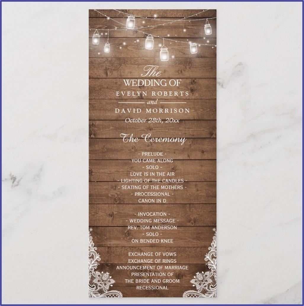 Traditional Wedding Program Samples