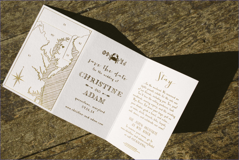 Tri Fold Wedding Invitations Template