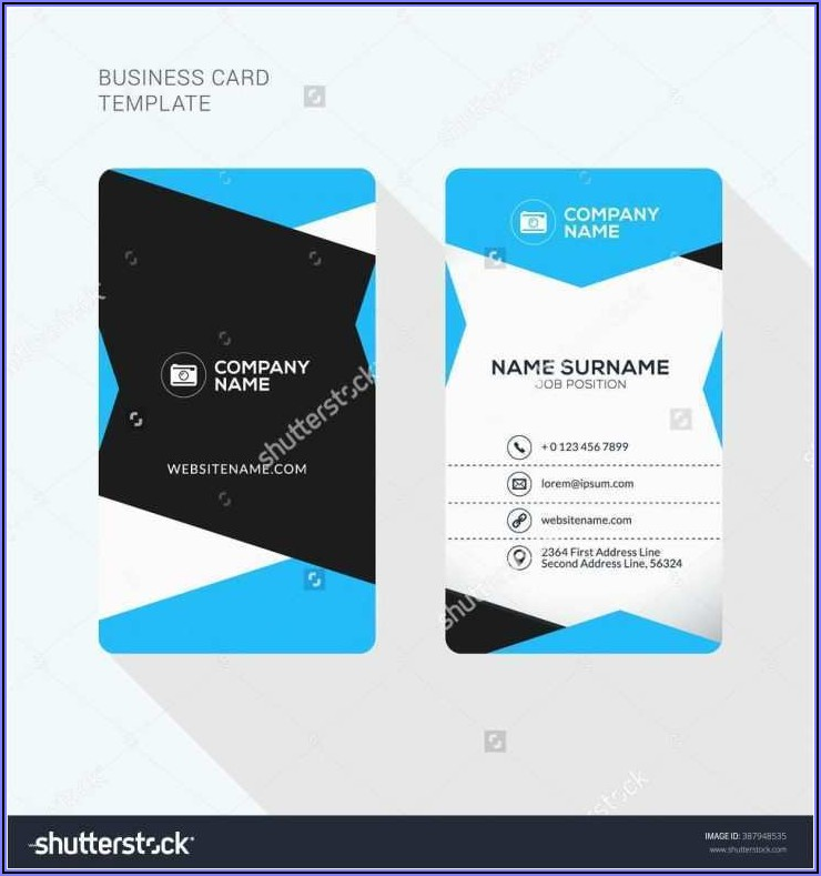Two Sided Business Card Template Microsoft Word