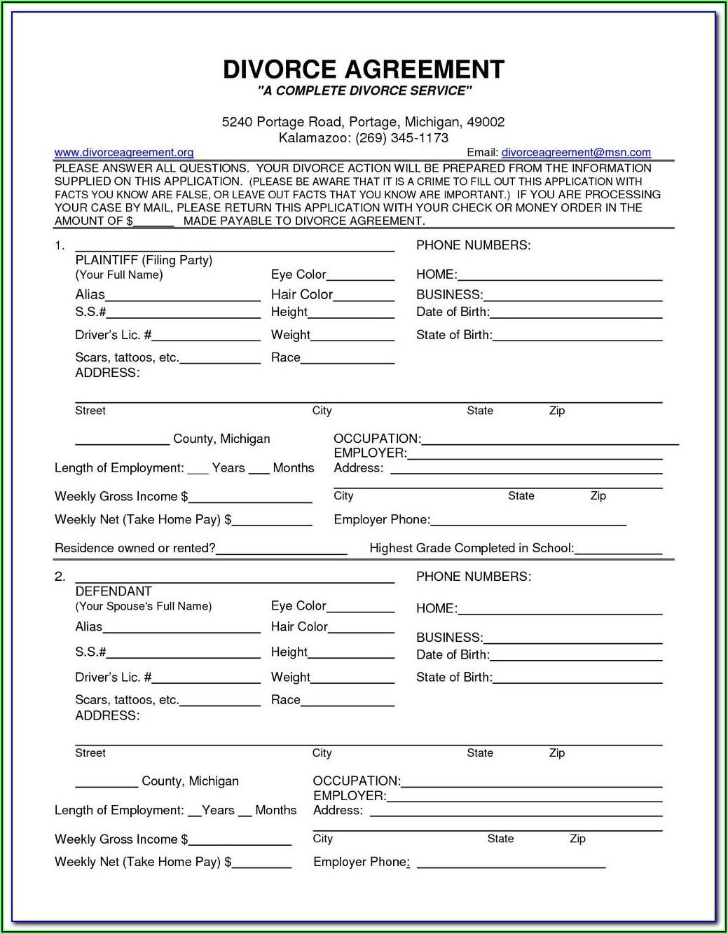 Uncontested Divorce Forms Massachusetts