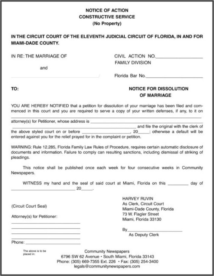 Uncontested Divorce Papers Florida