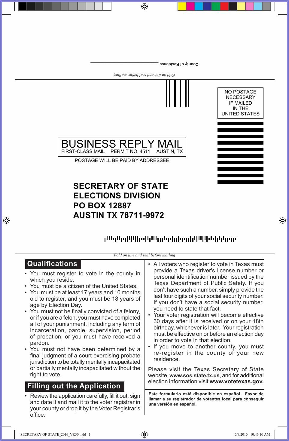 Voter Application Form Online