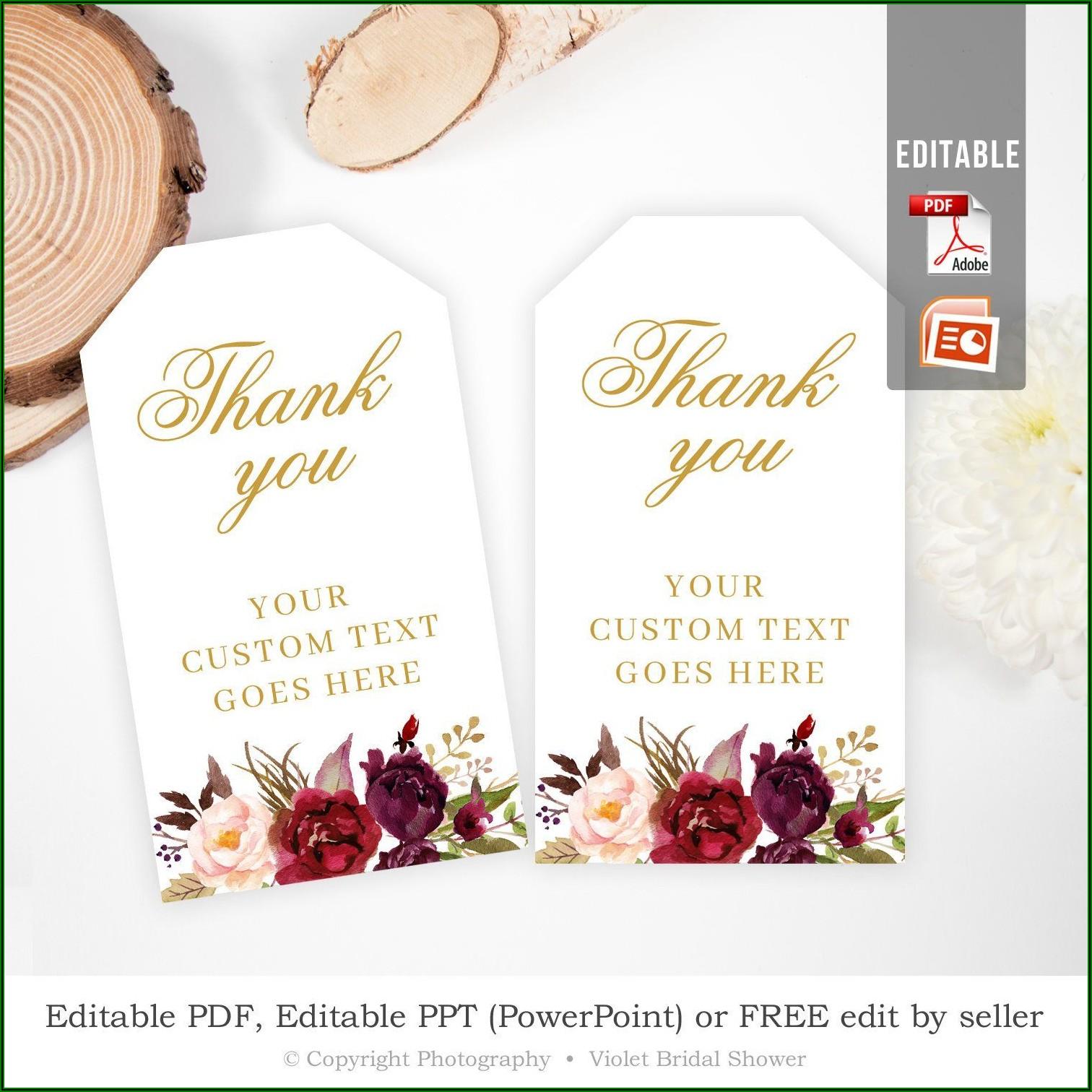 Wedding Favor Tags Free Printable