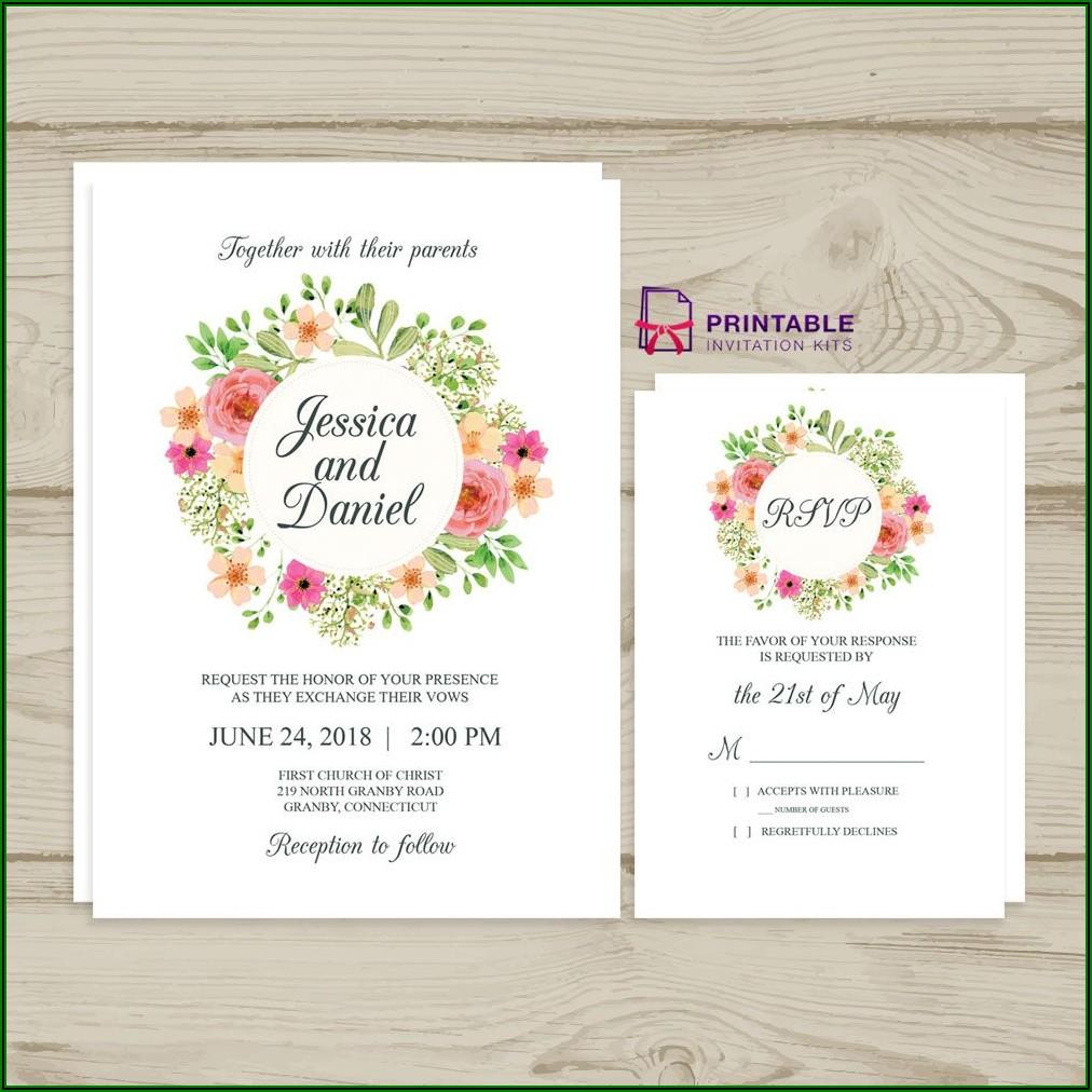 Wedding Invitation Rsvp Templates Free