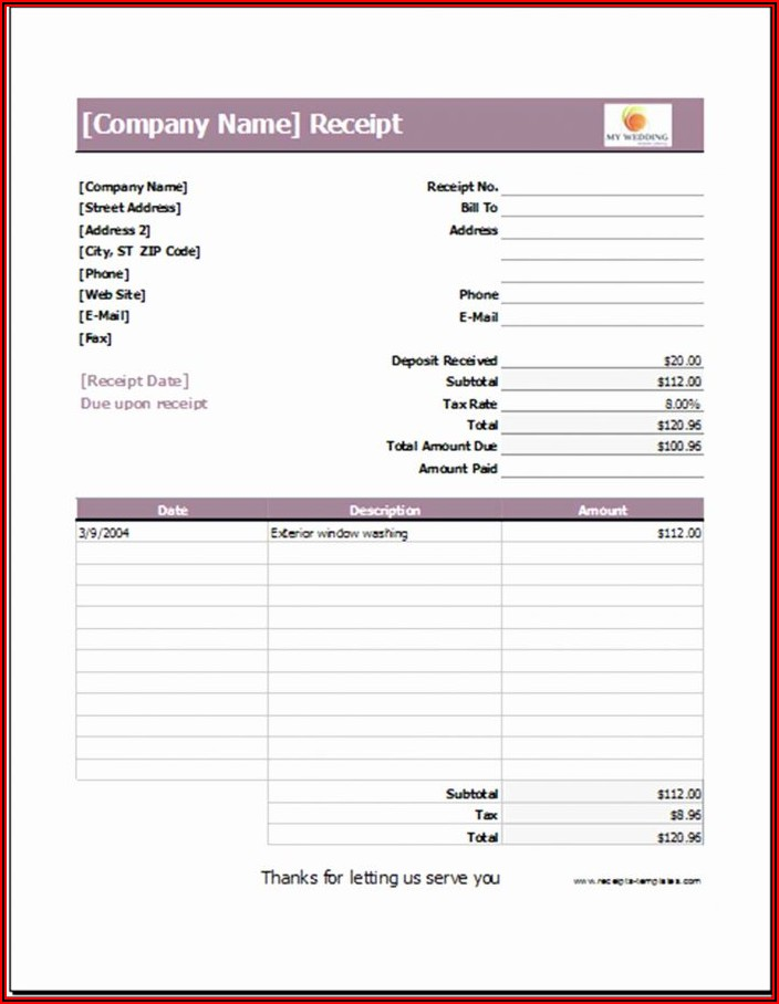 Wedding Planner Excel Template Free Download