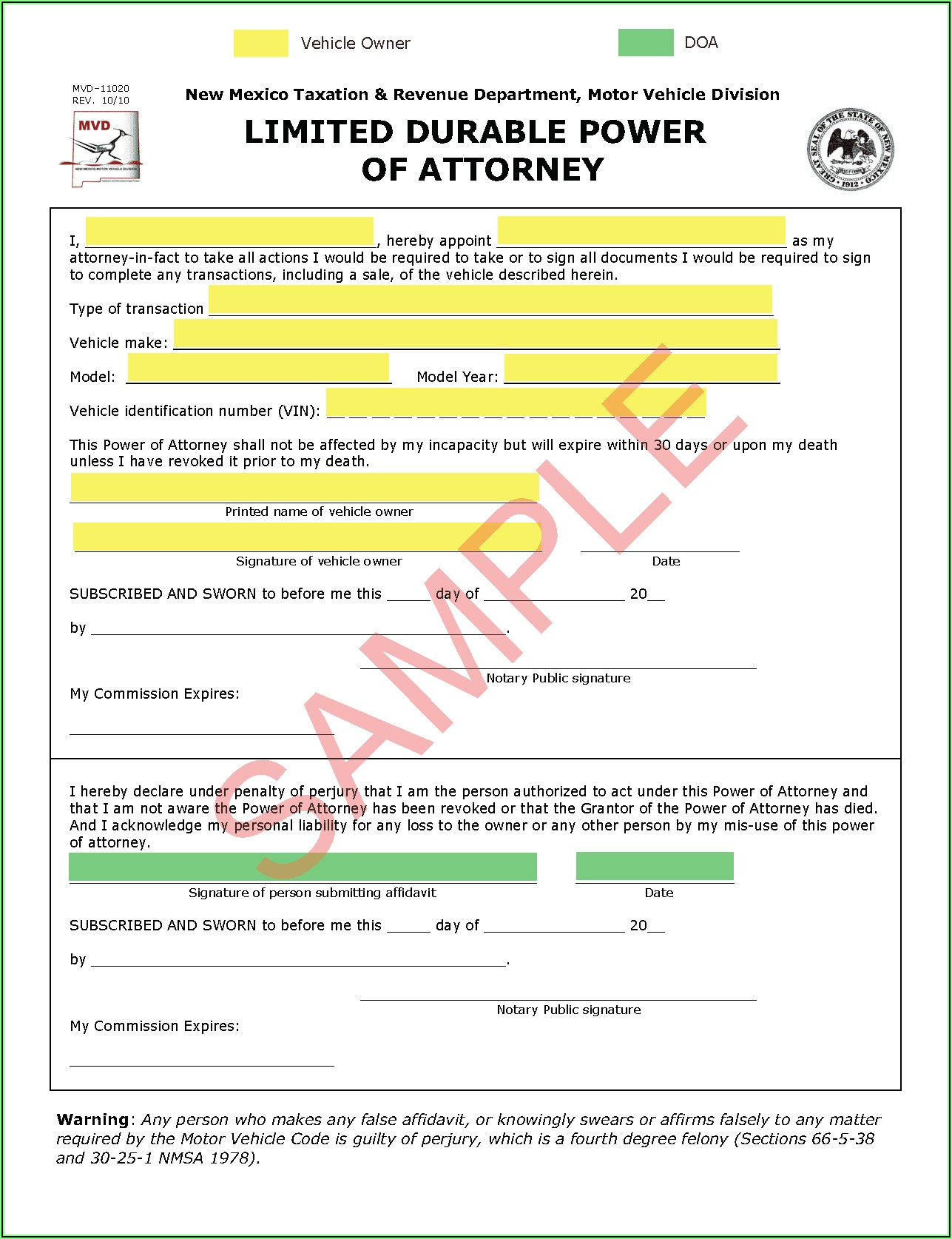 Where Can I Get A Blank Durable Power Of Attorney Form