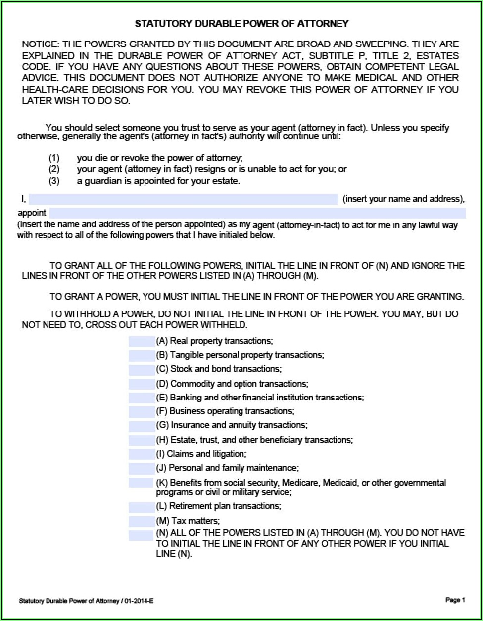 Where Can I Get A Durable Power Of Attorney Form
