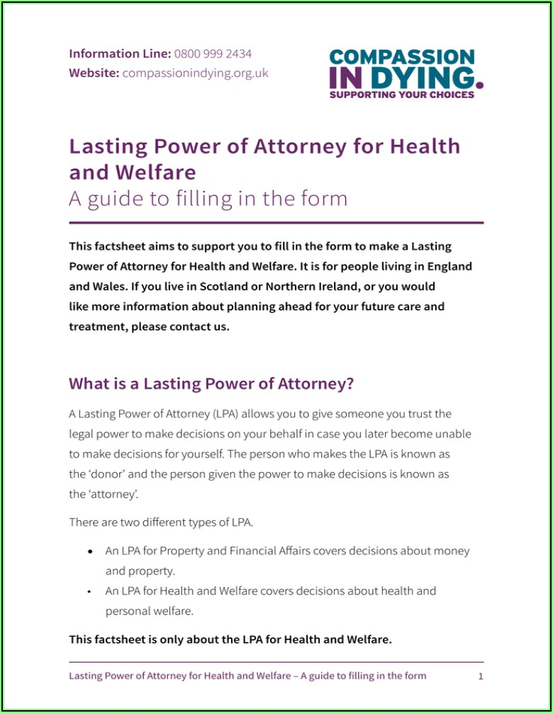 Where Can I Get A Lasting Power Of Attorney Form