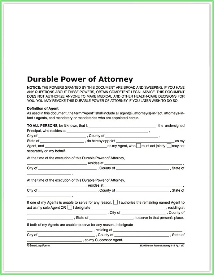 Where Do You Get Durable Power Of Attorney Forms