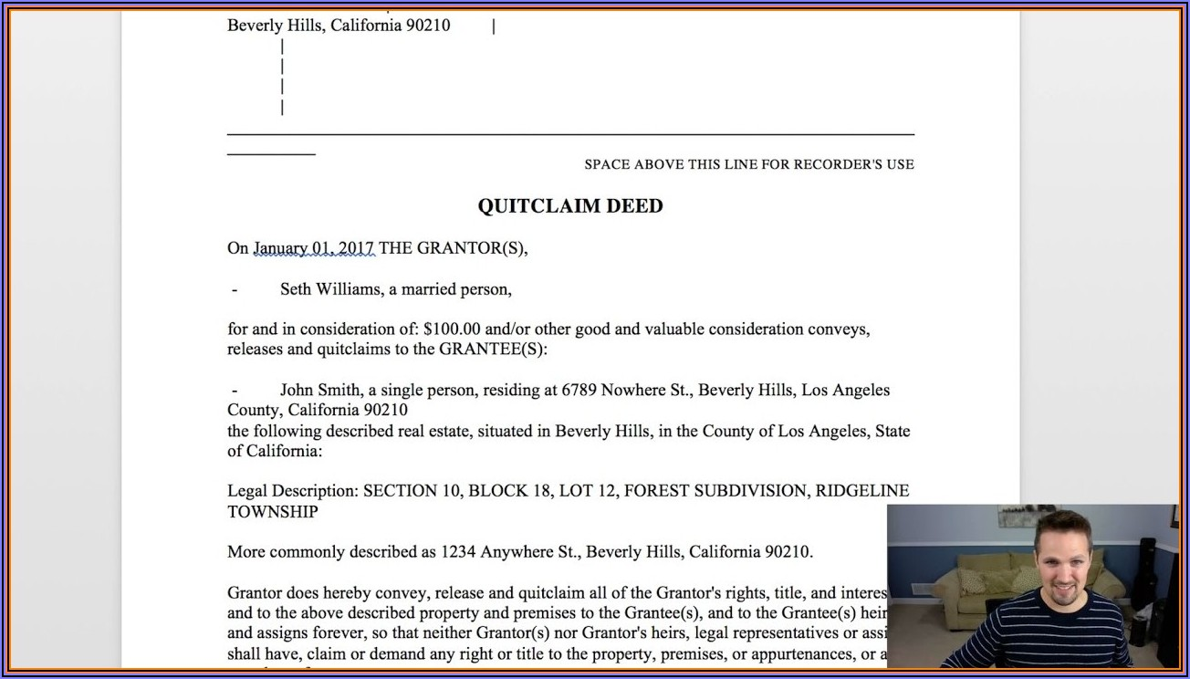 Wisconsin Real Estate Quit Claim Deed Form