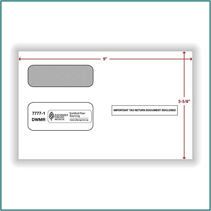 1095 Double Window Envelope