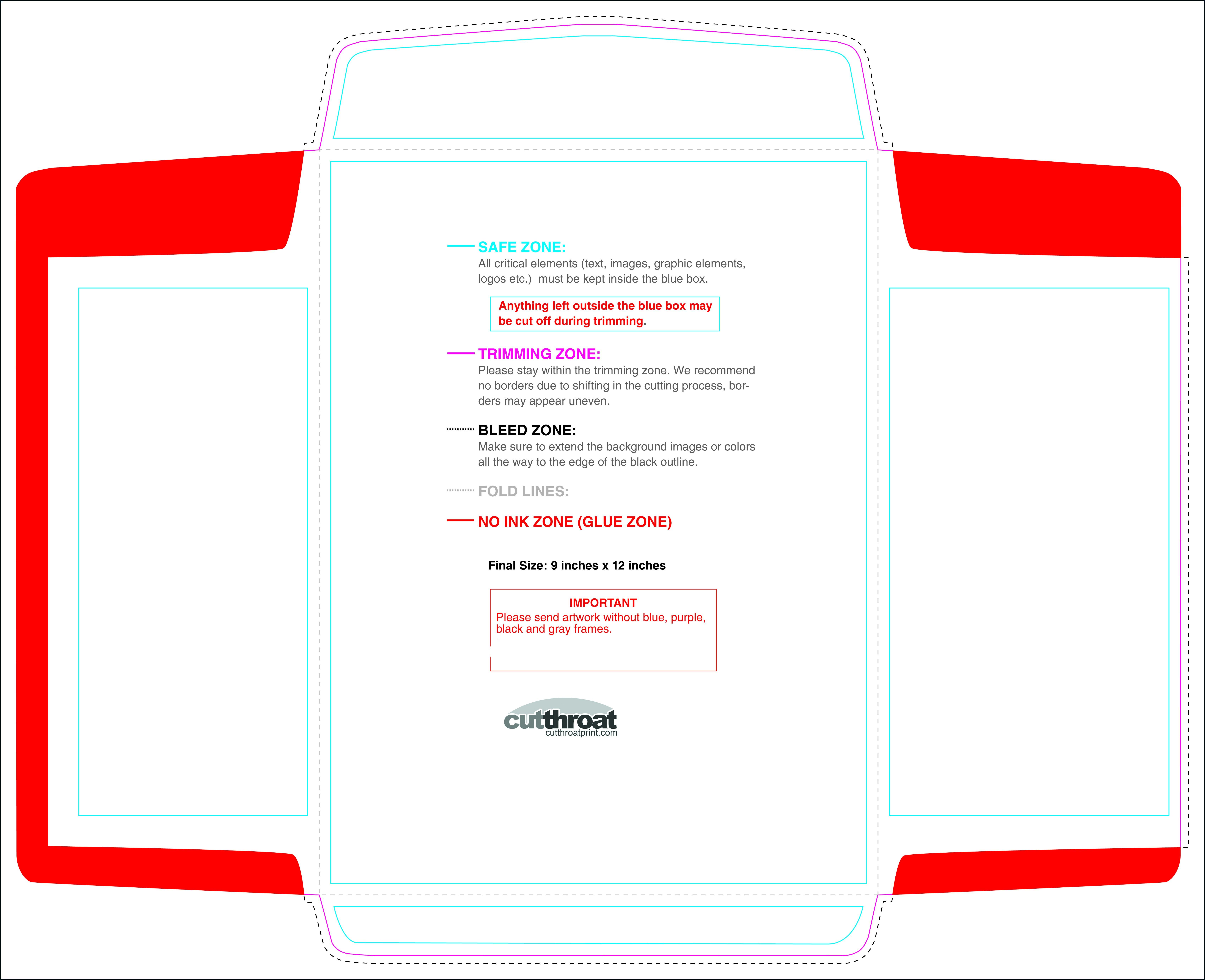 9 X 12 Catalog Window Envelope Template