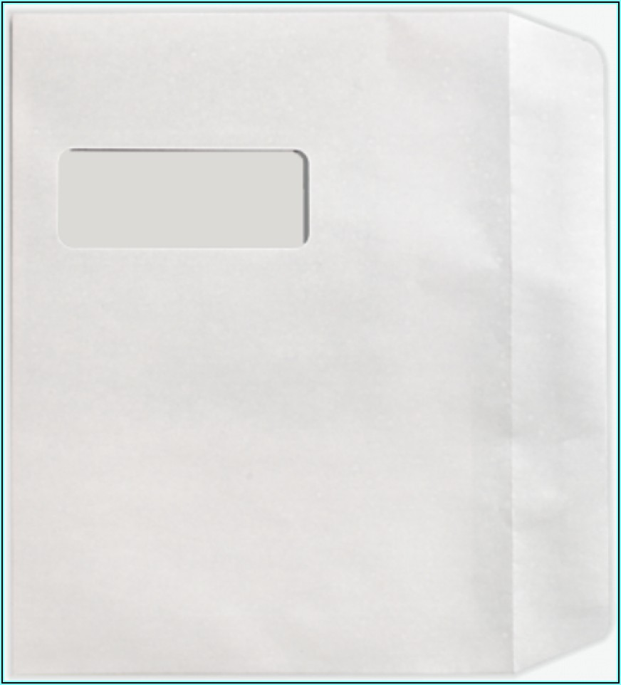 9x12 Booklet Window Envelope Template