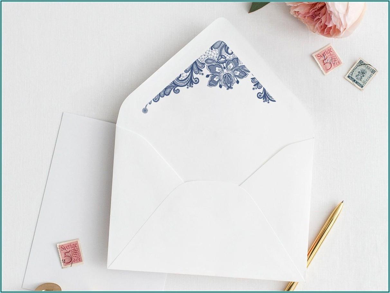 A9 Envelope Liner Template