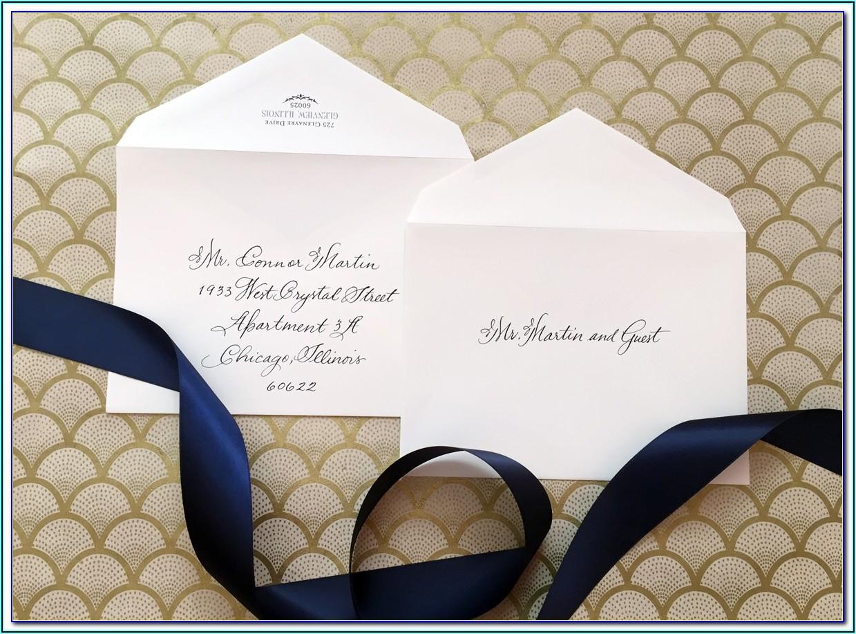 Addressing Wedding Invitations With No Inside Envelope