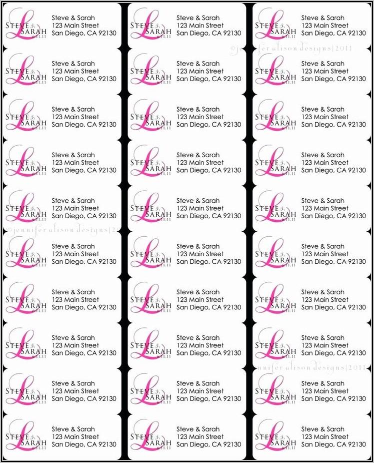 Avery Return Address Labels Template 8160