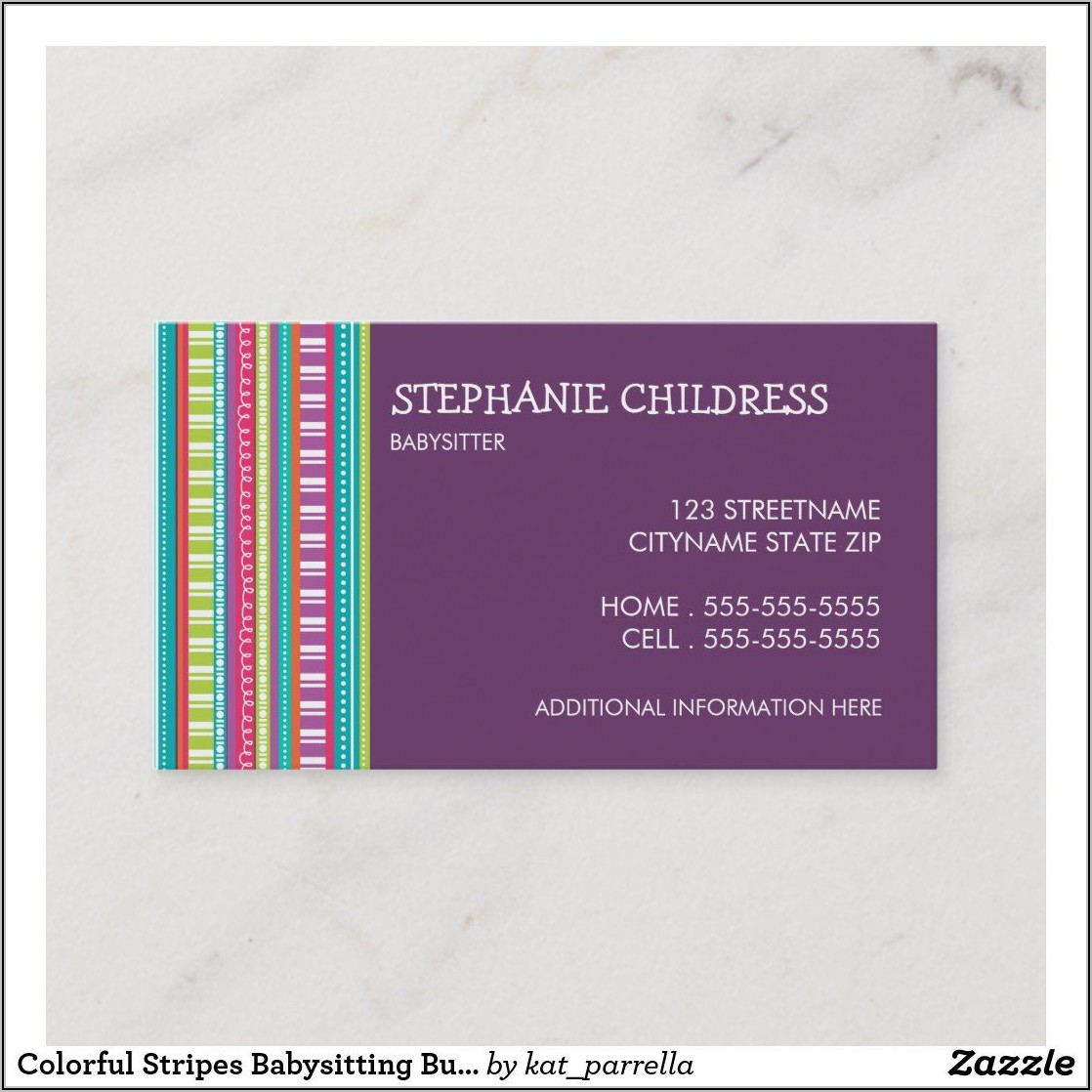 Babysitting Business Cards Templates Free Printable