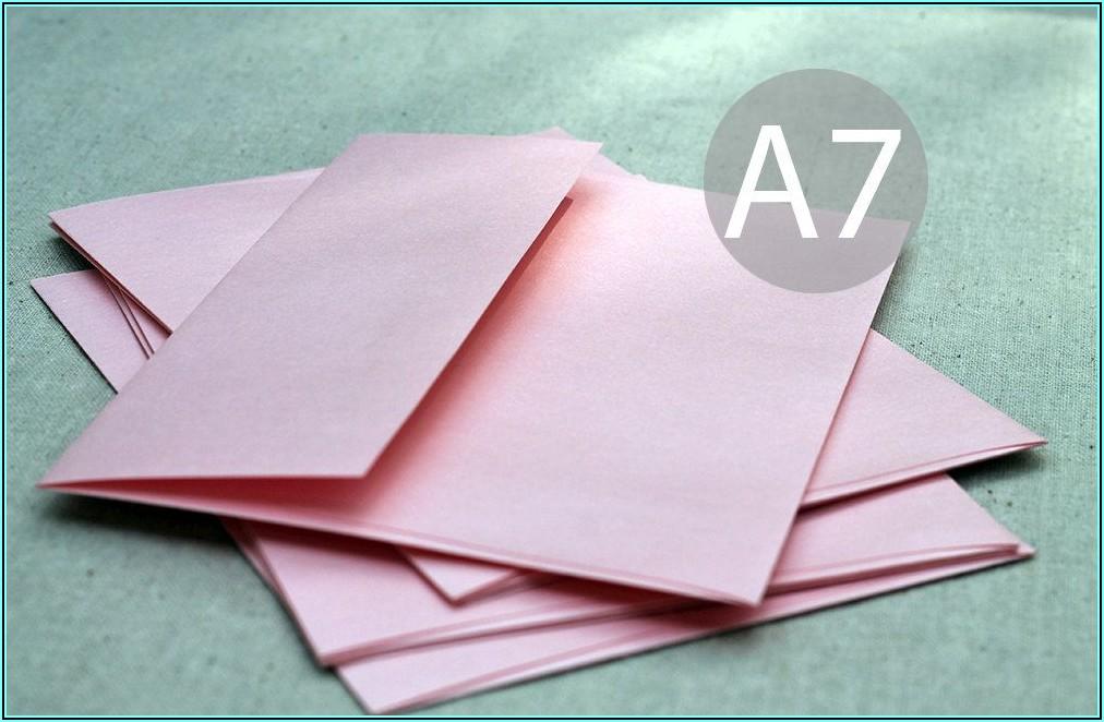 Blush Pink A7 Envelopes