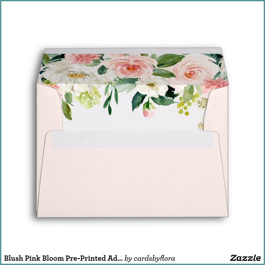 Blush Pink Envelopes 5x7
