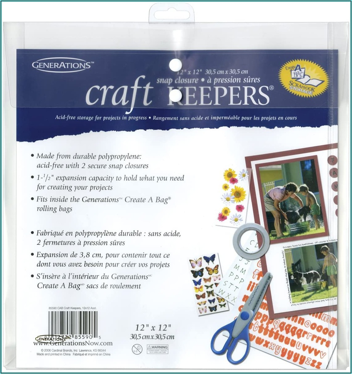 Craft Keepers 12x12 Poly Envelope
