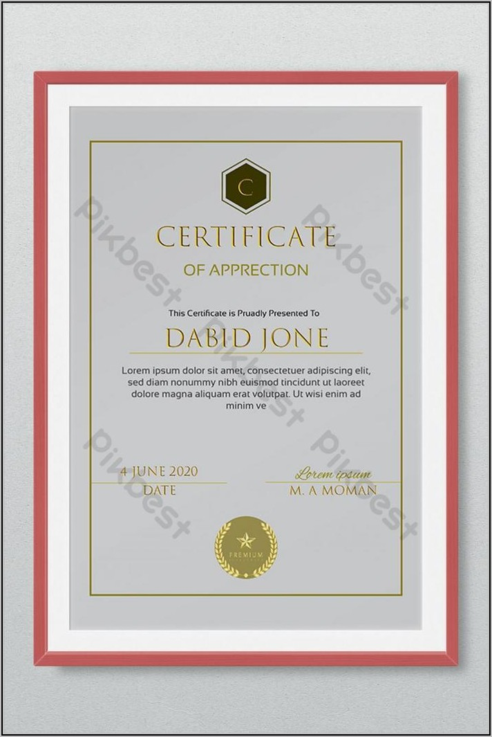 Employee Appreciation Certificate Template